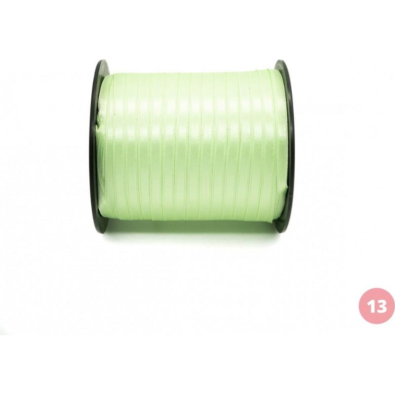 Light green satin ribbon