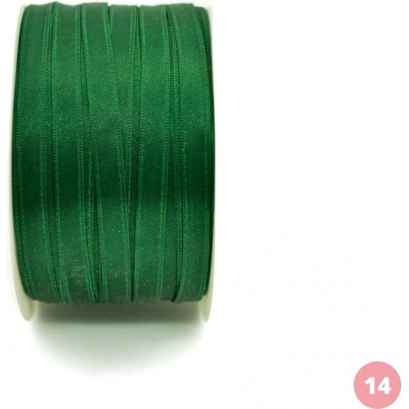 Dark green satin ribbon