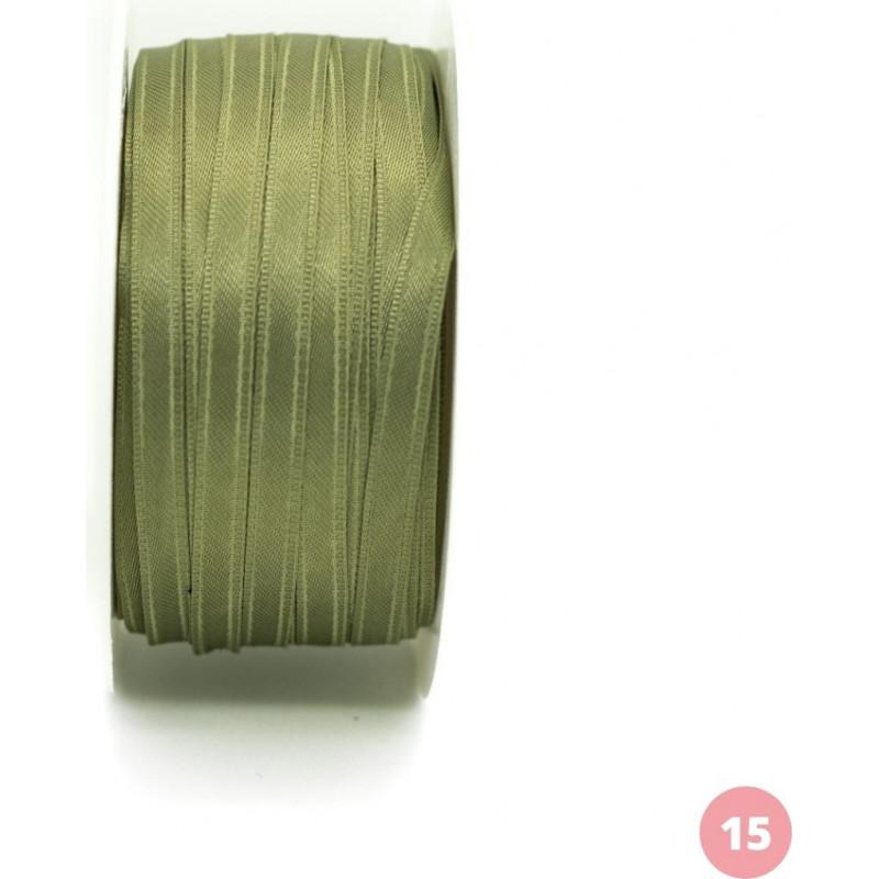 Almond green satin ribbon