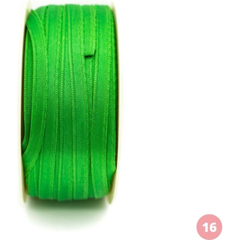 Apple green satin ribbon