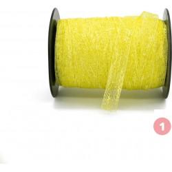 Ruban toile jaune clair