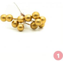 Piquet perle dorée