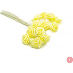 Yellow satin rose stake