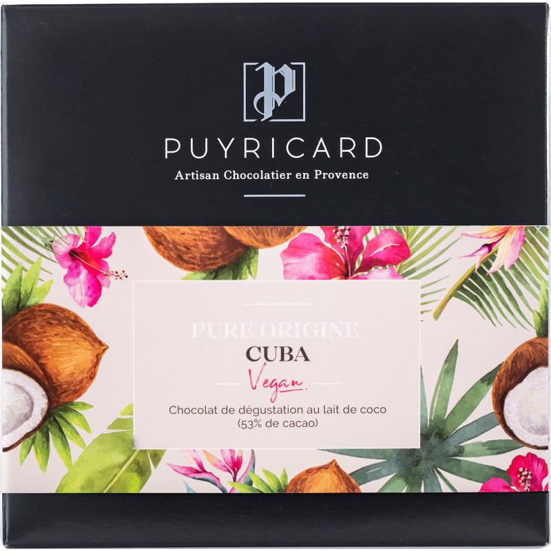 BAR OF PURE ORIGINE CUBA VEGAN MILK CHOCOLATE 100 G