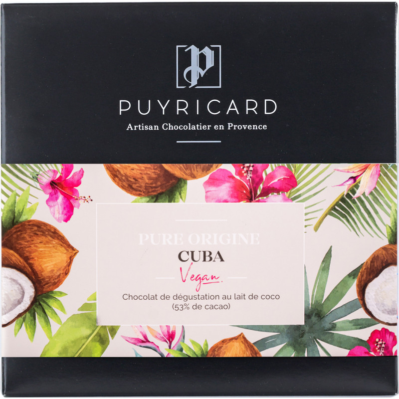 Tablette de Chocolat au lait vegan 53% Pure Origine Cuba 100g