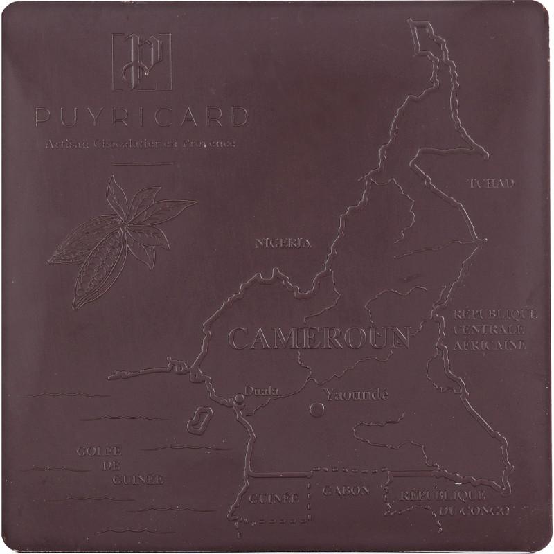 Tablette de Chocolat Noir Pure Origine 80% Cameroun 100g