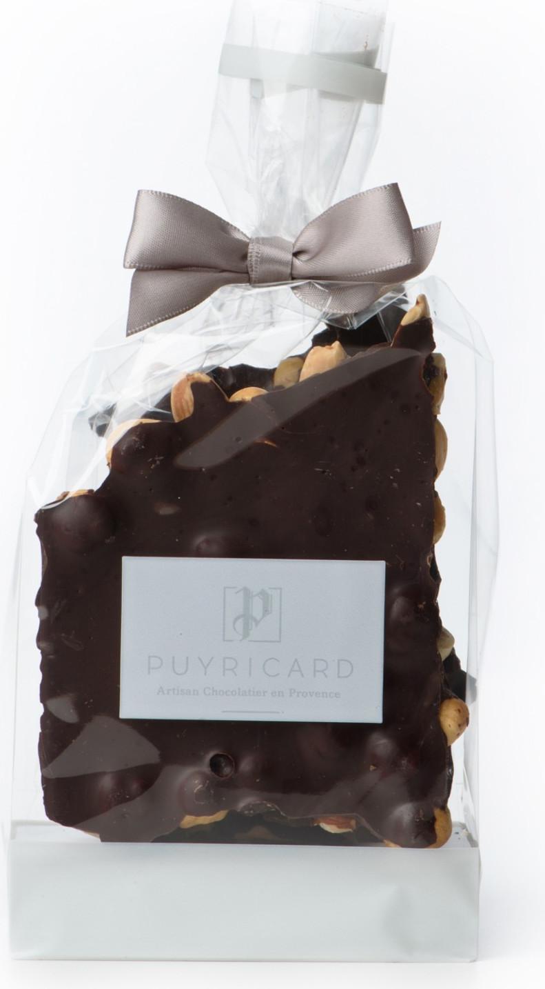 ALMOND AND HAZELNUT CHOCOLATE SLABS 250 G - Puyricard.fr