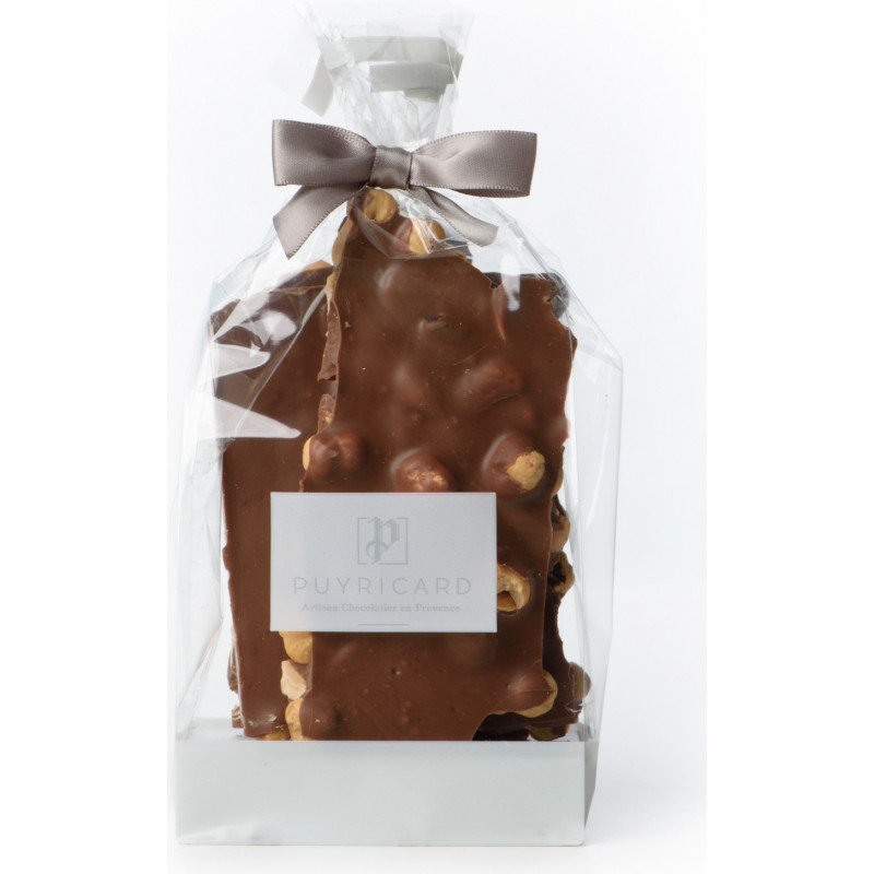 ALMOND AND HAZELNUT CHOCOLATE SLABS 250 G