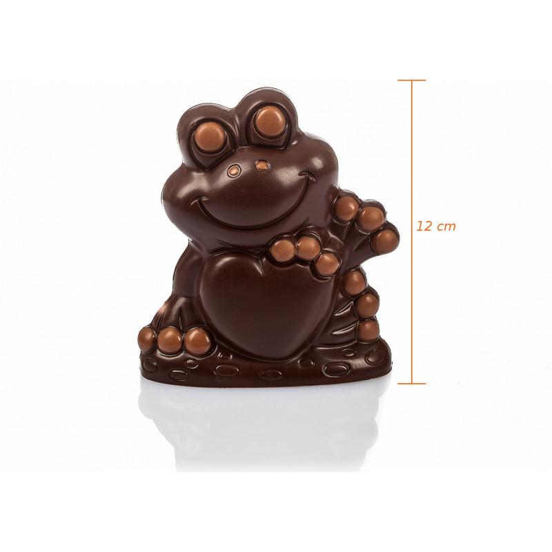 Grenouille en chocolat de Pâques garnie 12cm