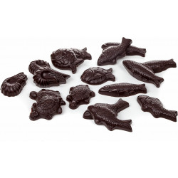 Oeuf de Pâques chocolat écailles garni 17cm
