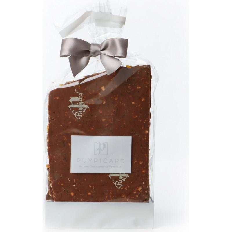 Blocs de chocolat au lait et abricots secs 250g