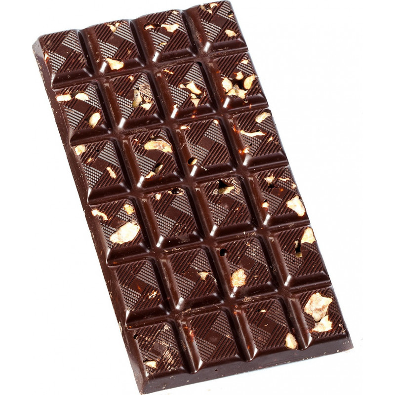 BAR OF DARK CHOCOLATE WITH CARAMELISED HAZELNUTS