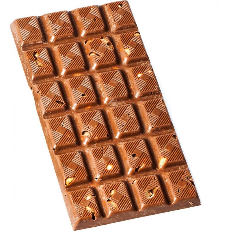 Tablette chocolat lait noisettes caramélisées