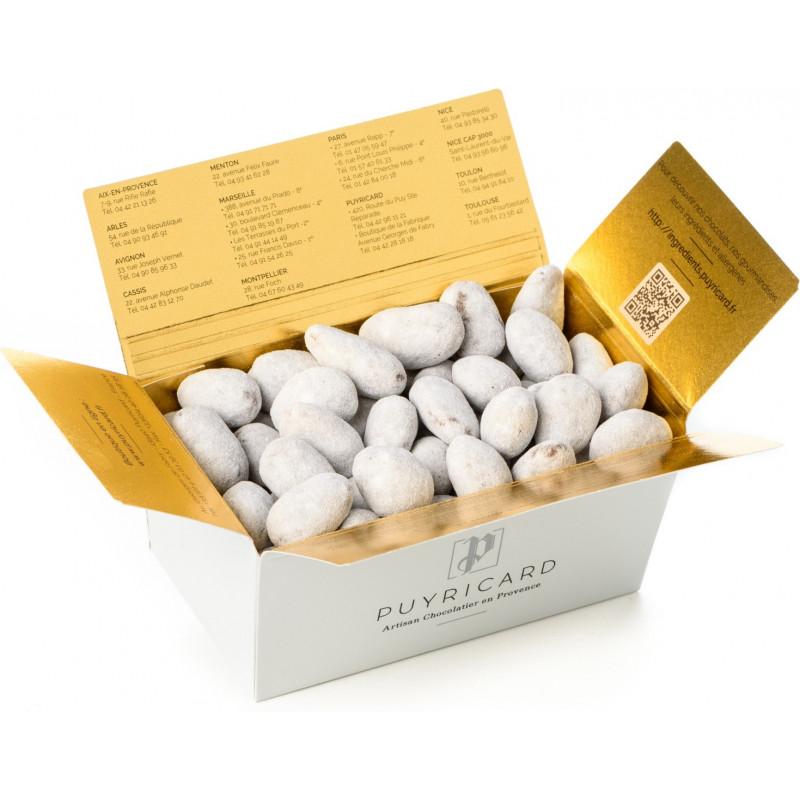 BALLOTIN BOX OF AMANDAS AND AVELINAS IN PRALINE AND ICING SUGAR 250 G