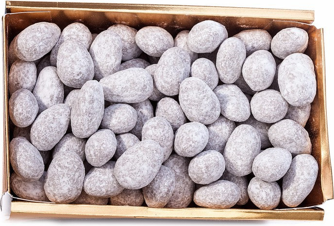 BALLOTIN BOX OF DARK OR MILK CHOCOLATE AMANDAS AND AVELINAS 375 G