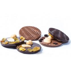 DARK AND MILK CHOCOLATE MENDIANTS 200 G