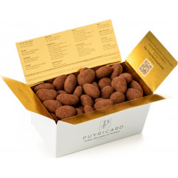 BALLOTIN BOX OF AMANDAS AND AVELINAS IN TRUFFLE PASTE AND COCOA POWDER 250 G