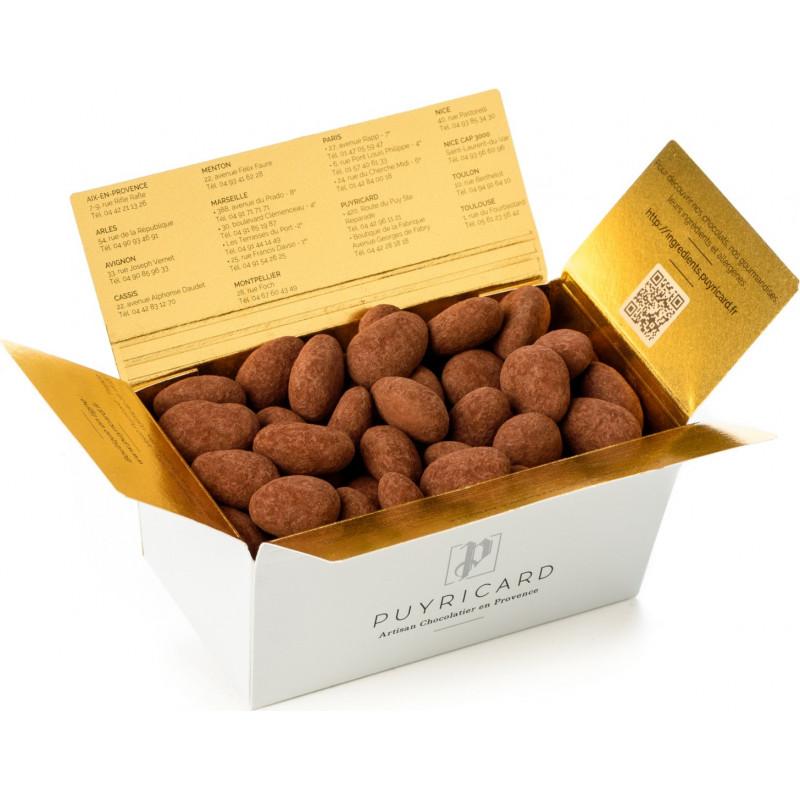 BALLOTIN BOX OF AMANDAS AND AVELINAS IN TRUFFLE PASTE AND COCOA POWDER 250 G