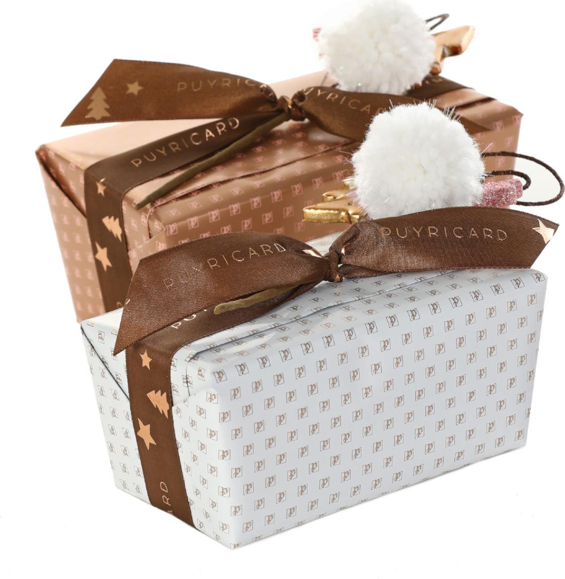 BALLOTIN BOX OF DARK OR MILK CHOCOLATE AMANDAS AND AVELINAS 1 KG