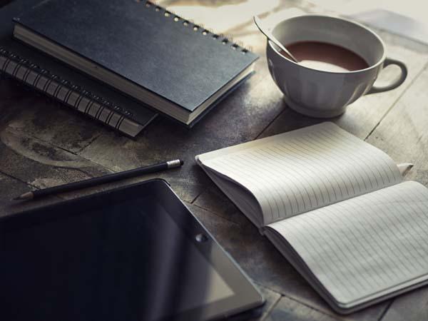 cahier et chocolat